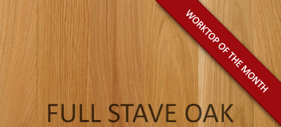 Full Stave Oak - Worktop of the Month