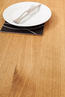 Full stave prime oak solid wood worktops are a popular choice in Shrewsbury.