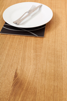 Classic full stave Prime Oak worktops with 90mm wide staves.