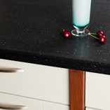 Black Star Earthstone worktops are manufactured from a sturdy acrylic for a durable surface that can be repaired easily
