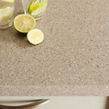 Our Coffee Earthstone worktops are sturdy and easy to repair thanks to their 6mm thick acrylic top layer