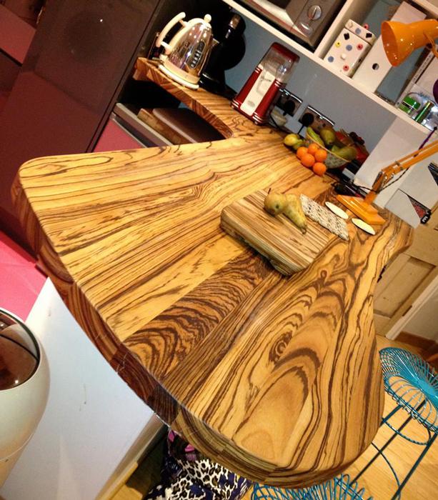Kitchen Worktops Express: Full Stave Zebrano Worktops Gallery