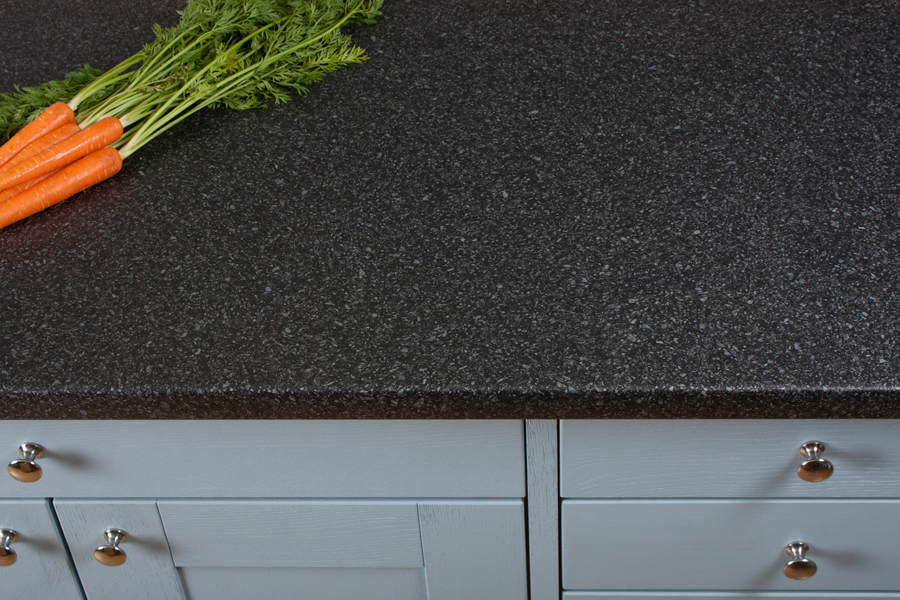 Quartz Laminate Worktops : Black quartz laminate worktops from Worktop Express feature subtle ...