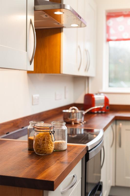 American Black Walnut Full Stave Kitchen Worktops
