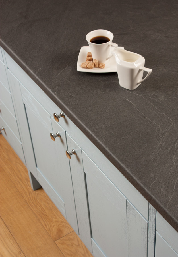Grey Slate Laminate Worktops (Luna Nero) Gallery - Worktop