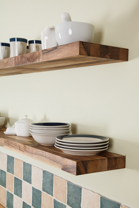 Wooden Kitchen Shelves Gallery