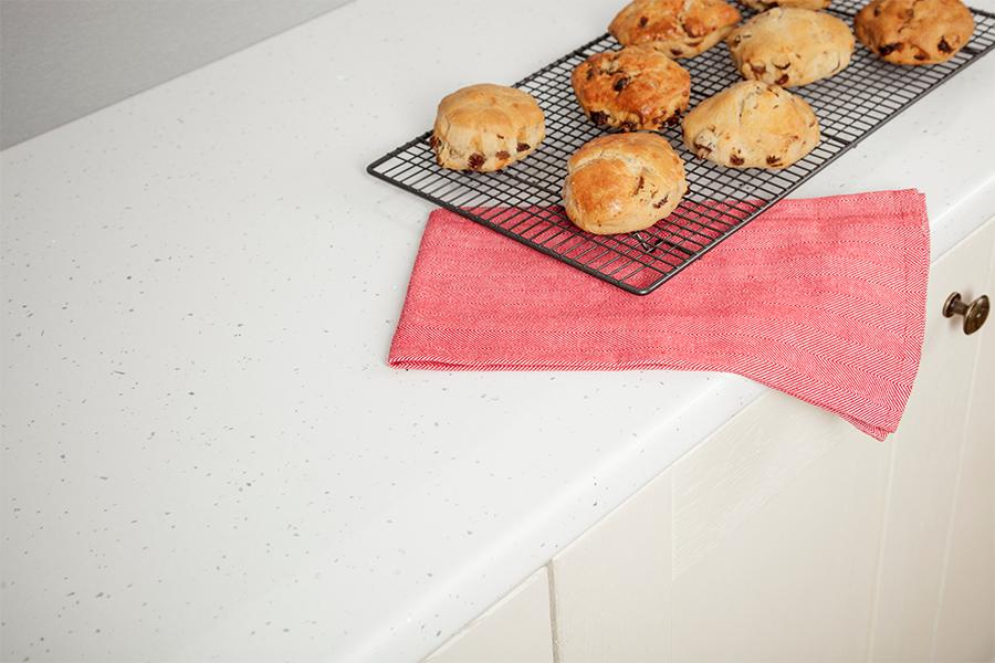 White Andromeda Gloss Mm Laminate Kitchen Worktop Abs Square Edge
