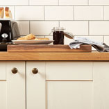 This 40mm thick Prime Oak worktop is an elegant choice and suits all kitchen styles.