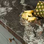 Aeon black marble laminate worktops look incredibly realistic, and are a low-cost alternative to real marble worktops.