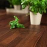 American walnut looks considerably darker than its European counterpart, and has an incredible grain pattern that comes in both straight and curly forms.