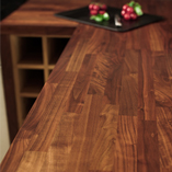 American walnut worktops are not only particularly elegant - they are also very hard-wearing and can be sanded to an incredibly smooth finish.