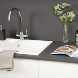 Our Anthracite Grey super matt worktops benefit from an anti-fingerprint coating - perfect for busy households.