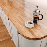 Our ash worktops are made from a number of 40mm staves that show off different aspects of the timber's natural character.