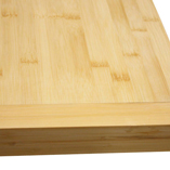 Bamboo worktop with end cap.