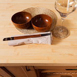 Bamboo worktops are lightly coloured and have unique figuring - a sustainable surface that's ideal for bright, modern kitchens.