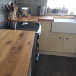 A closer look at the beautiful intricate grain textures of our full stave oak worktops.