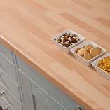 Beech block laminate worktops are perfectly suited to a wide variety of kitchen themes - whether contemporary or classic.