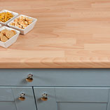 If you are looking for a laminate surface to imitate the look of real beech hardwood, consider our beech block laminate worktops.