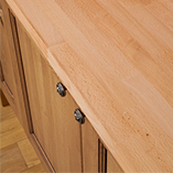 Our beech worktops are a perfect hard-wearing surface for traditional solid wood kitchens.