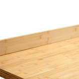 Bamboo worktop with upstand.