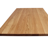 Full stave 3m X 960mm X 40mm prime oak worktop with chamfered edge profile.