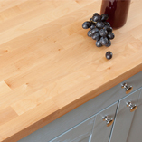 A birch worktop is a great way to add some character to a smaller kitchen.