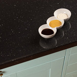 Our black gloss work surfaces are highly-affordable, and an ideal choice for low-maintenance modern kitchens.