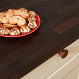 Our 40mm thick black oak worktops come in a variety of lengths and in either 620mm or 960mm widths. Should you wish, they can be customised by our bespoke worktops team.