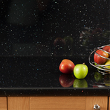 Black Sparkle worktops are incredibly long-lasting and wear-resistant.
