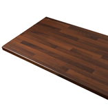 Our black walnut block laminate worktops can be cut to suit a number of requirements using our worktop cutting facility.