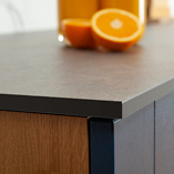 Caldeira work surfaces can be cut-to-size easily and need no specialist equipment to install - saving costs on fitting when compared to stone worktops.
