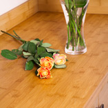 Caramel bamboo worktops are given a special heat treatment that releases the natural sugars and darkens the colour of the worktop.