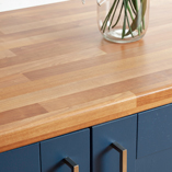 These laminate cherry worktops are incredibly durable and have a water and wear resistant finish.