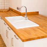 Our cherry worktops are available up to 960mm wide, but larger surfaces can be created by biscuit-joining two pieces together.