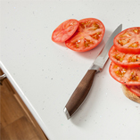 We recommend always using a chopping board to prepare food to keep your worktop in best condition.