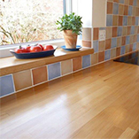 Beech worktop with a matching window-sill.