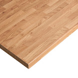 Our Colmar Oak laminate worktops come with coordinating edging strip to finish the edges once cut to size.
