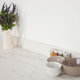 Designed to complement our exclusive white marble solid laminate worktop, this upstand is contemporary and sleek.