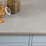 Choose concrete laminate worktops for your kitchen and bring this trendy look to your home at a price you can afford.