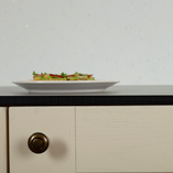 This concrete solid laminate worktop is a great low-maintenance work surface for any kitchen.