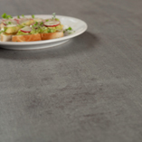 This concrete solid laminate worktop is just 12mm thick and so is an ideal candidate for a contemporary kitchen design.
