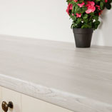 Constructed from a composite wooden particle board, our white wood laminate worktops are very durable.