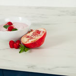If you are looking for a worktop that is suitable for a contemporary kitchen, this slimline white marble solid laminate worktop is ideal.