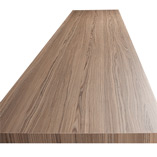 Cypress Cinnamon laminate worktops are 38mm thick and come in a variety of widths.