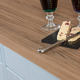 Our Cypress Cinnamon laminate worktops are an ideal choice for matching with wooden cabinets.