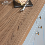 These Cypress Cinnamon wood effect work surfaces have a textured matt finish that replicates the feel of real wood.