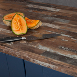 Combining dark cabinet doors with our Sealand Pine worktops is a great way to inject warmth into a kitchen.