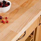 Each extra-wide stave in our Deluxe Ash worktop is finger-jointed together to create a hard-wearing surface.