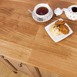 This Deluxe form of our oak worktops beautifully shows off the recognisable grain of oak timber in a wider stave than our standard worktops.