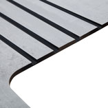 Drainage grooves can be added to solid laminate worktops because they are fully waterproof.